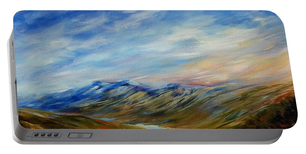 Alberta Moment Portable Battery Charger featuring the painting Alberta Moment by Joanne Smoley