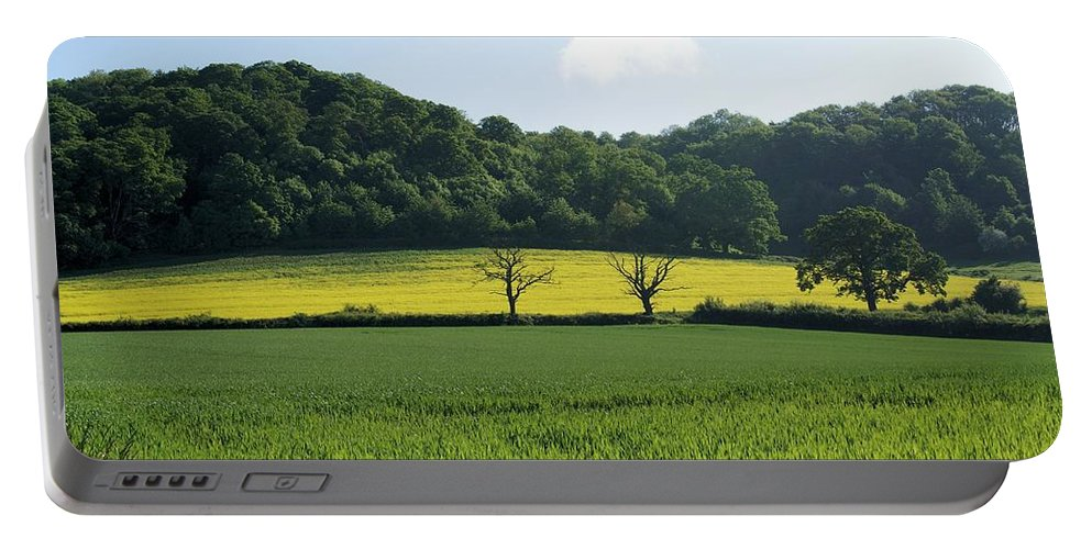 Green Portable Battery Charger featuring the photograph Alderton Hill by Ron Harpham