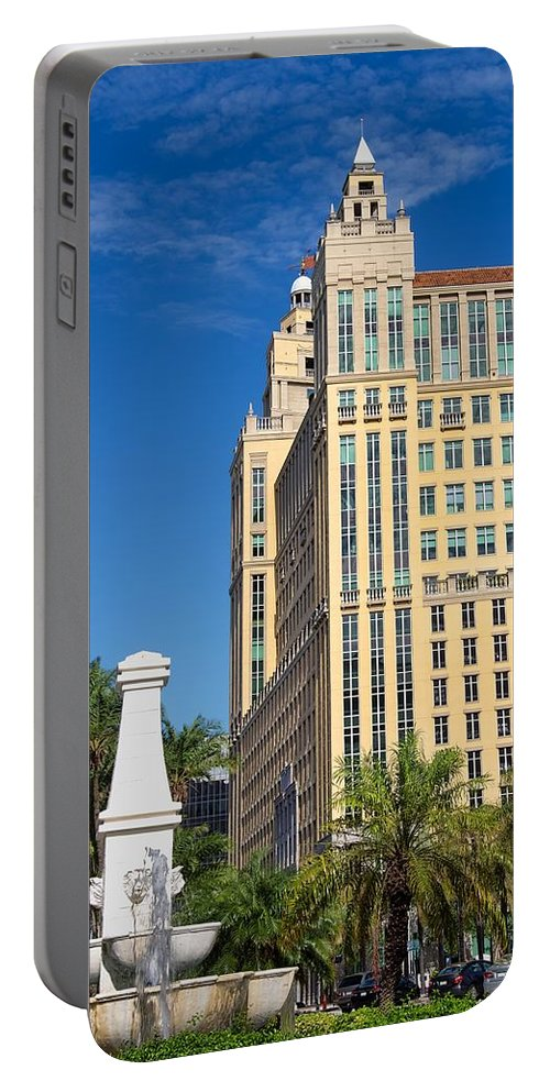 Alhambra Portable Battery Charger featuring the photograph Alhambra Towers - 1 by Rudy Umans