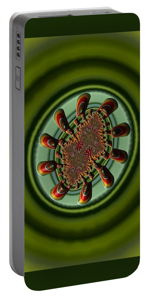 Iphoneography Fractal Portable Battery Charger featuring the photograph Aliens Feeding Phone Cases And Cards by Bill Owen