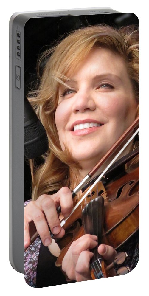 Music Portable Battery Charger featuring the photograph Alison Krauss by Julie Turner
