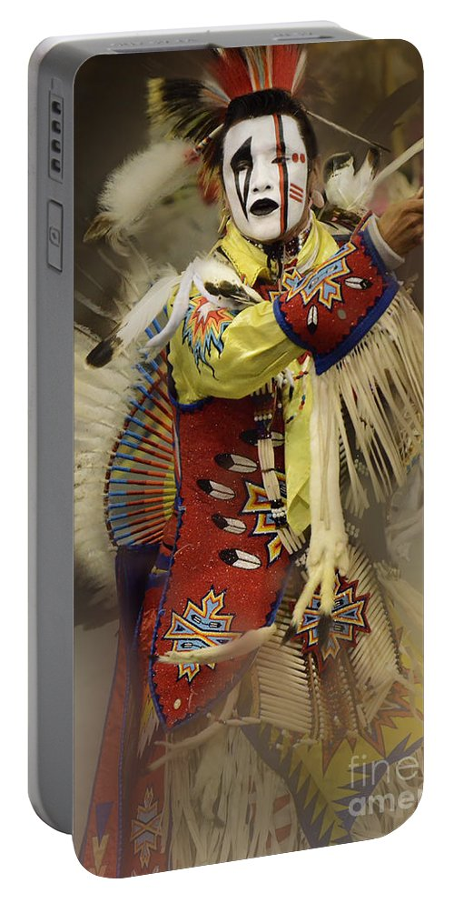 Pow Wow Portable Battery Charger featuring the photograph Pow Wow All About Time by Bob Christopher