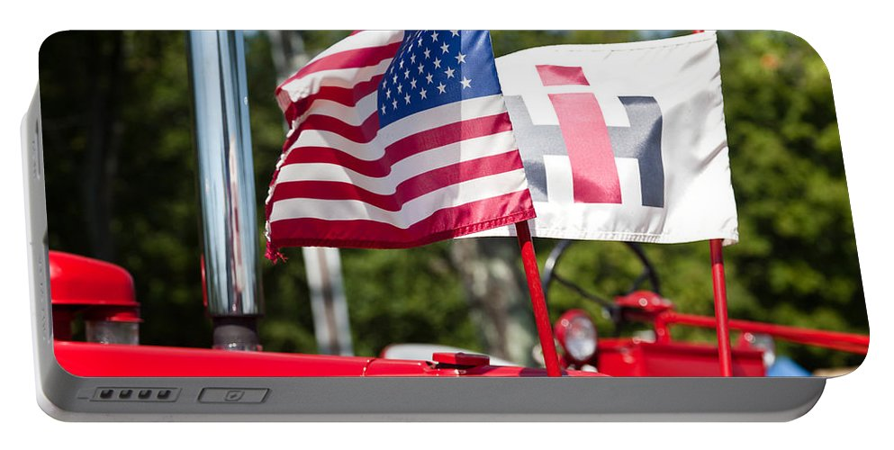 Tractor Portable Battery Charger featuring the photograph All American by Bill Wakeley