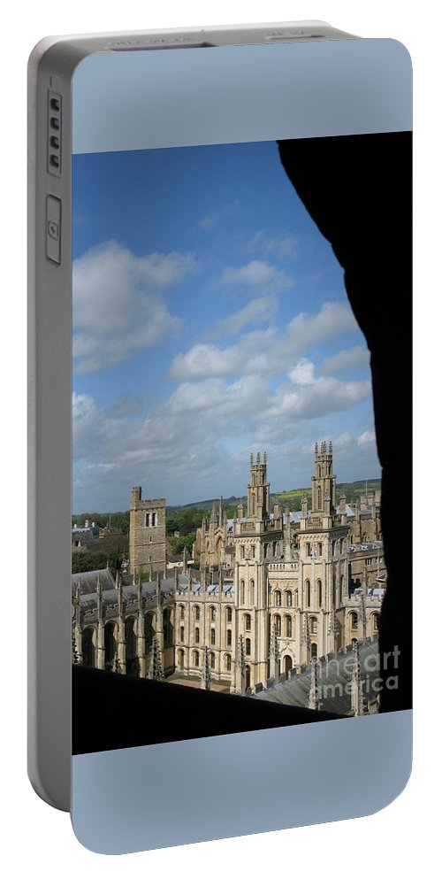 Oxford University Portable Battery Charger featuring the photograph All Souls College And Beyond by Ann Horn