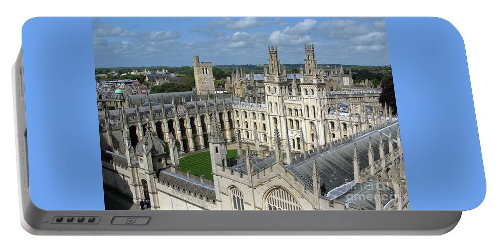 Oxford Portable Battery Charger featuring the photograph All Souls College by Ann Horn