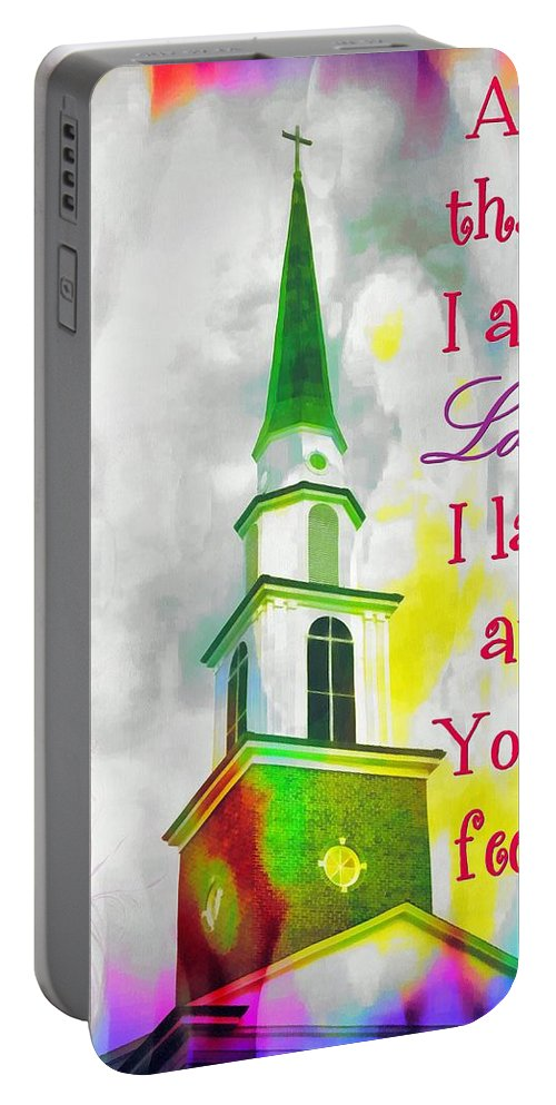 Jesus Portable Battery Charger featuring the digital art All That I Am by Michelle Greene Wheeler