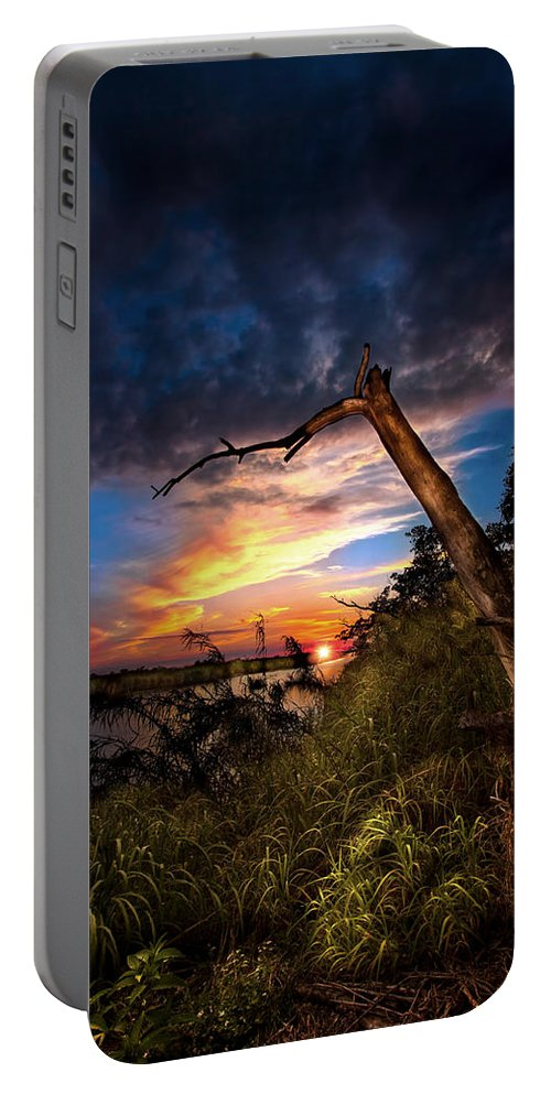Sunset Portable Battery Charger featuring the photograph All Trails End by Mark Andrew Thomas