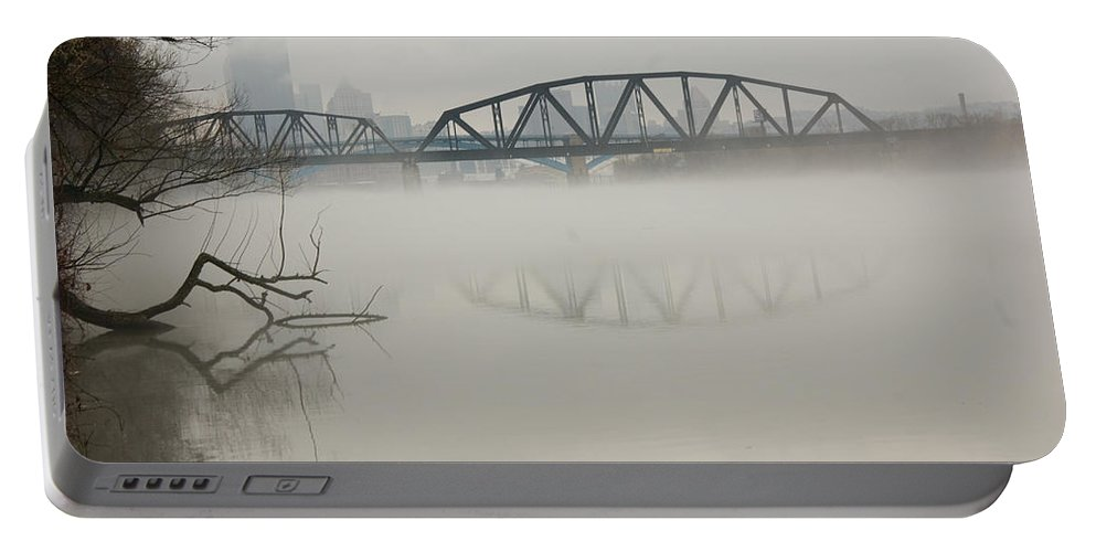 Landscape Portable Battery Charger featuring the photograph Allegheny In The Mist by Jay Ressler