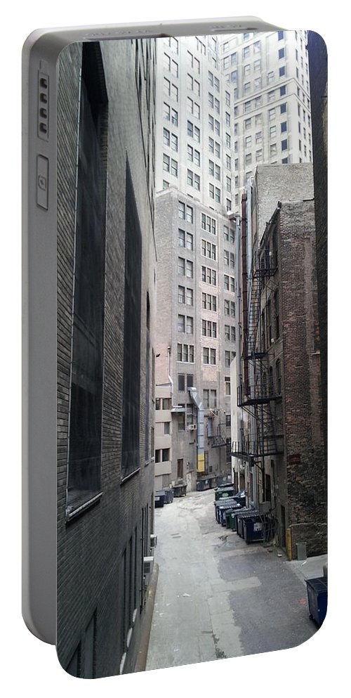 Street Art Portable Battery Charger featuring the digital art Alley 5 by Zac AlleyWalker Lowing