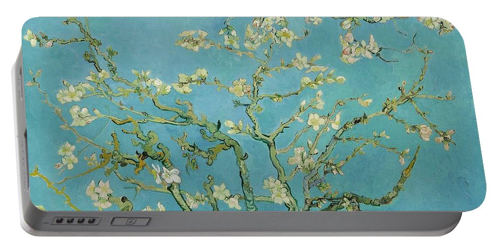 1890 Portable Battery Charger featuring the painting Almond Blossom by Vincent van Gogh