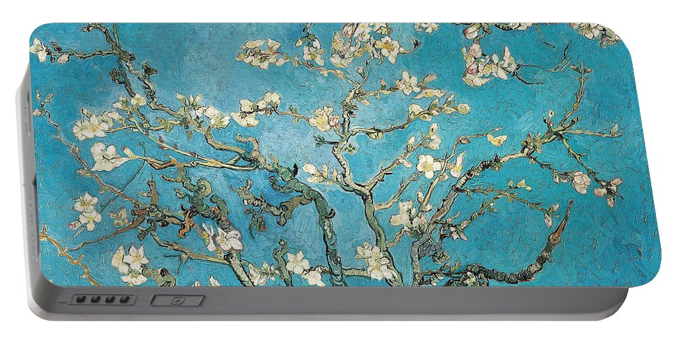 Van Portable Battery Charger featuring the painting Almond branches in bloom by Vincent van Gogh