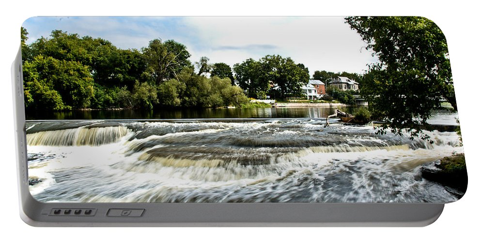 Portable Battery Charger featuring the photograph Almonte Falls by Cheryl Baxter