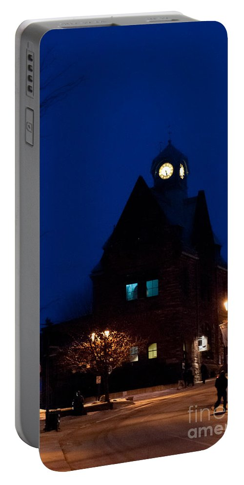 Old Buildings Portable Battery Charger featuring the photograph Almonte Ontario At Night by Cheryl Baxter