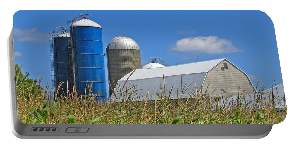 Harvest Portable Battery Charger featuring the photograph Almost Harvest Time by Ann Horn