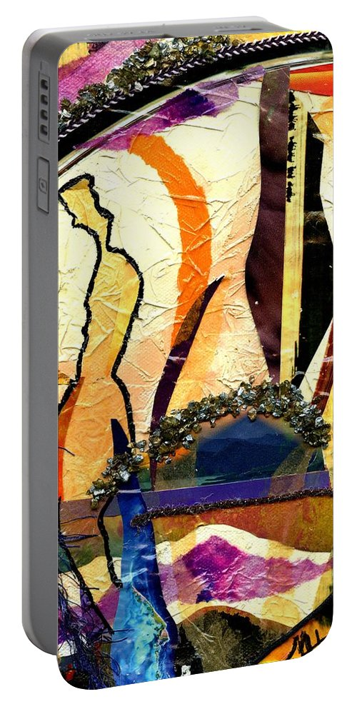 Acrylic Portable Battery Charger featuring the mixed media Alone by Melanie Hudson
