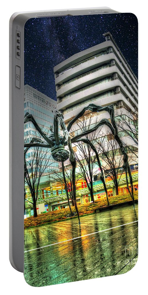 Architecture Portable Battery Charger featuring the photograph Along Came A Spider by Juli Scalzi
