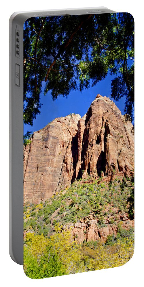 Zion National Park Utah Portable Battery Charger featuring the photograph Along Emeral Pools Trail - Zion by Jon Berghoff