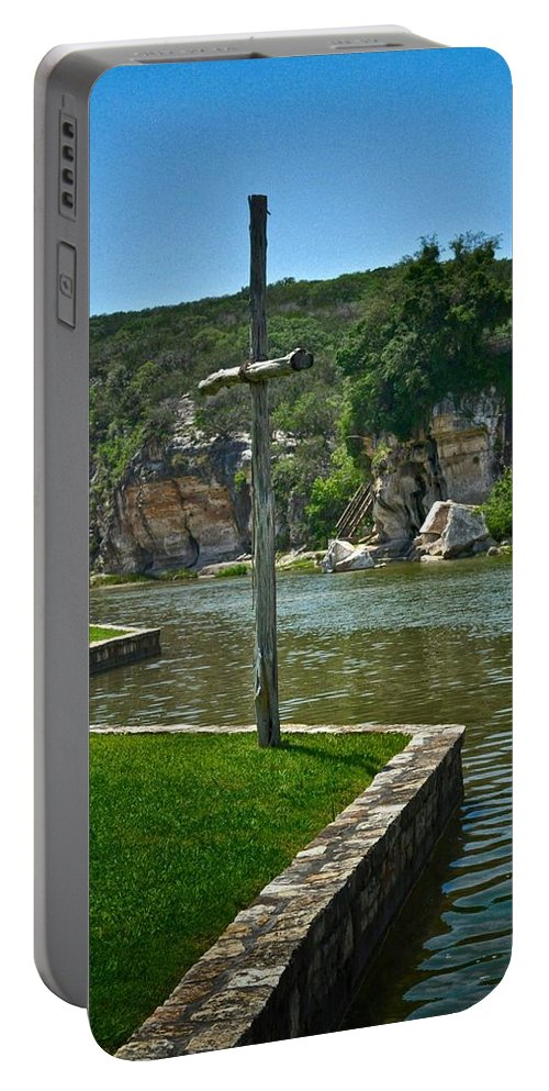 Texas River Print Portable Battery Charger featuring the photograph Along The Guadalupe by Kristina Deane