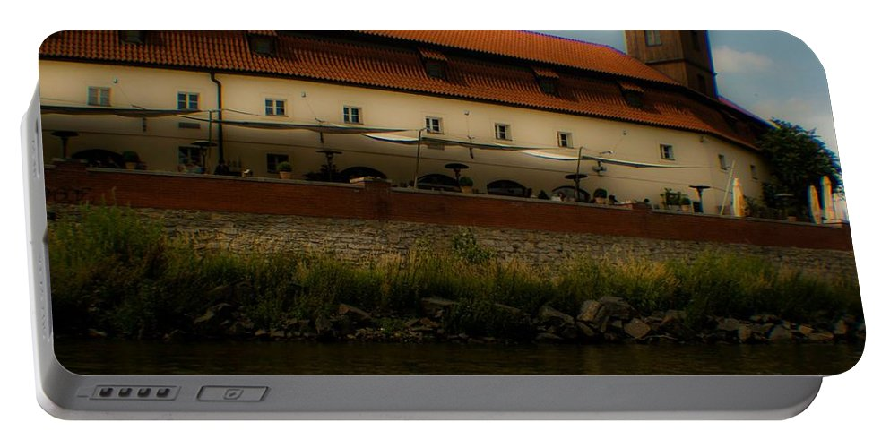 River Portable Battery Charger featuring the photograph Along The River by Kathleen Odenthal