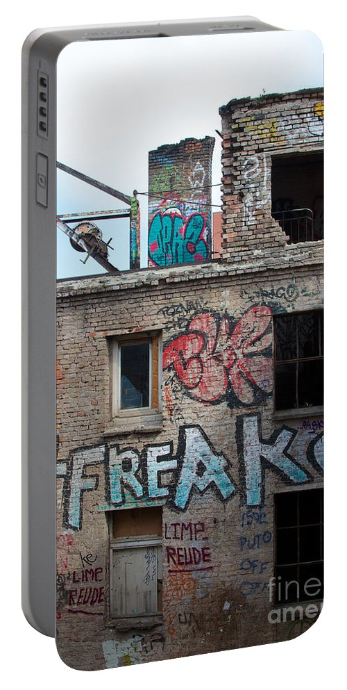 Abandoned Portable Battery Charger featuring the photograph Alte Eisfabrik Berlin by Jannis Werner