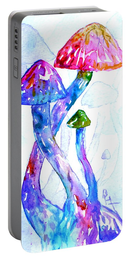 Altered Visions Portable Battery Charger featuring the painting Altered Visions II by Beverley Harper Tinsley