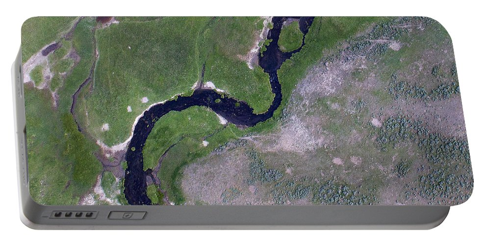 North America Portable Battery Charger featuring the photograph Alum Creek by Max Waugh