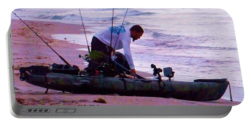 Am Portable Battery Charger featuring the photograph Am Fisherman by Chuck Hicks