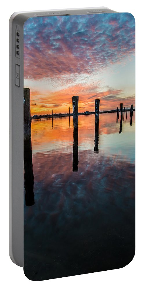 New Jersey Portable Battery Charger featuring the photograph Amazing Bay by Kristopher Schoenleber