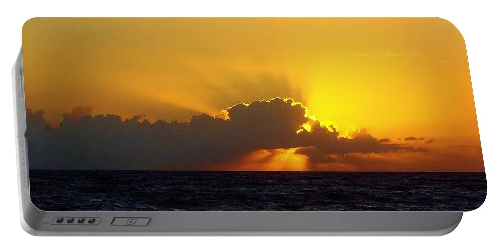 Sunrise Portable Battery Charger featuring the photograph Amazing Sky by D Hackett