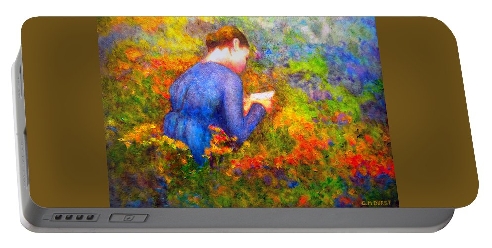 Impressionism Portable Battery Charger featuring the painting Ambrosia's Love Letter by Michael Durst