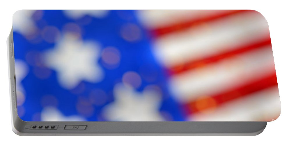 Usa Portable Battery Charger featuring the photograph American Abstract by Grigorios Moraitis