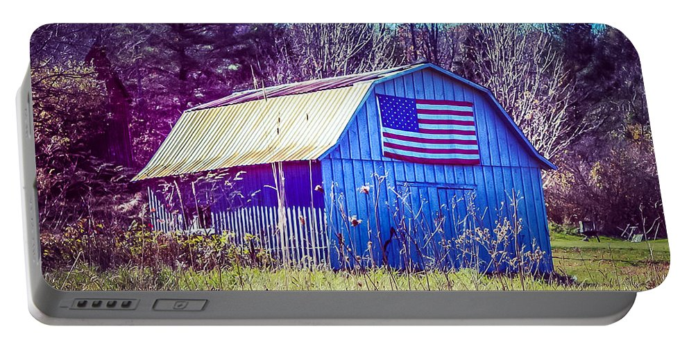 New England Portable Battery Charger featuring the photograph American Barn by DAC Photo