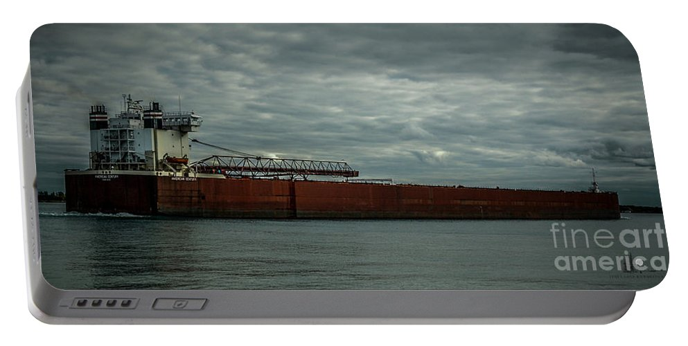 Ship Portable Battery Charger featuring the photograph American Century by Ronald Grogan
