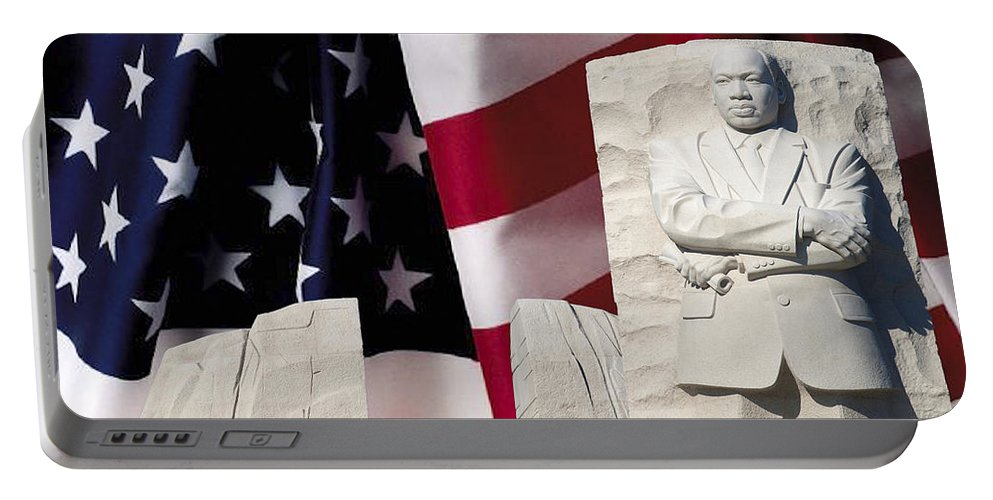 Martin Luther King Jr Memorial Portable Battery Charger featuring the photograph American Excellence by Theodore Jones