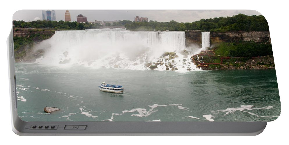 3scape Portable Battery Charger featuring the photograph American Falls by Adam Romanowicz