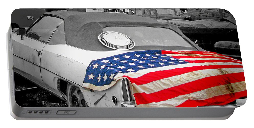 Cars Portable Battery Charger featuring the photograph American Made by Deb Buchanan