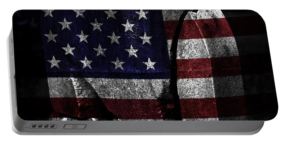 Tombstone Portable Battery Charger featuring the photograph American Tombstone by John Stephens