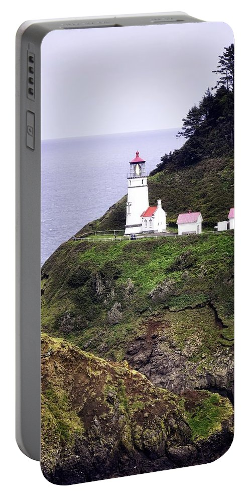 Heceta Head Portable Battery Charger featuring the photograph America's Favorite Lighthouse by Image Takers Photography LLC - Laura Morgan