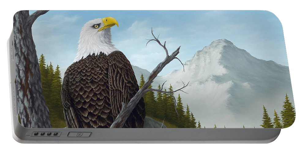 Animals Portable Battery Charger featuring the painting America's Pride by Rick Bainbridge