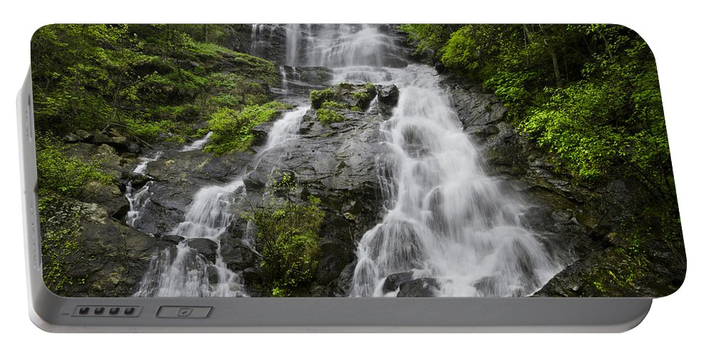 Appalachia Portable Battery Charger featuring the photograph Amicalola Falls by Debra and Dave Vanderlaan