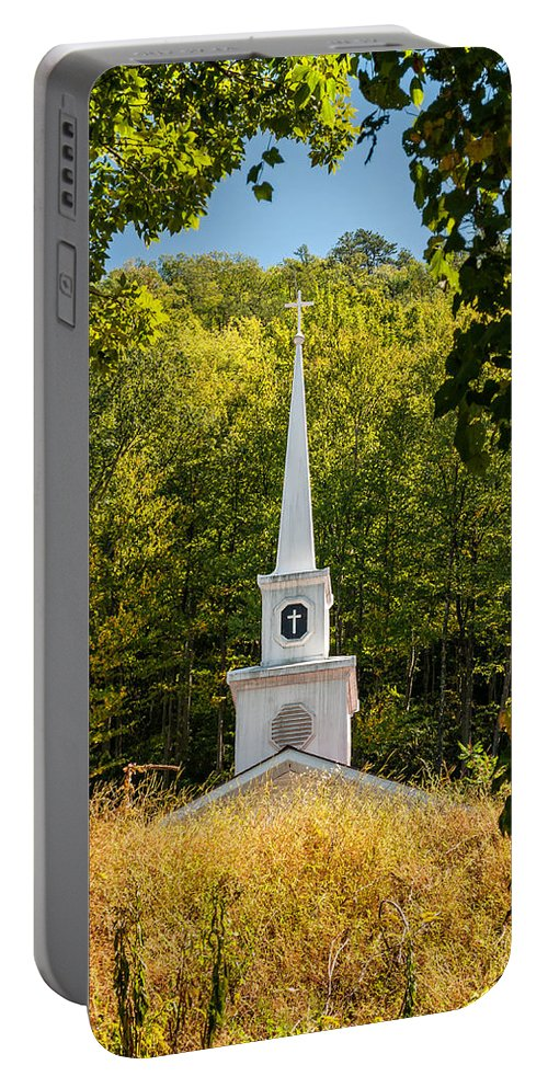 Church Portable Battery Charger featuring the photograph Amidst The West Virginia Woods by Steve Harrington