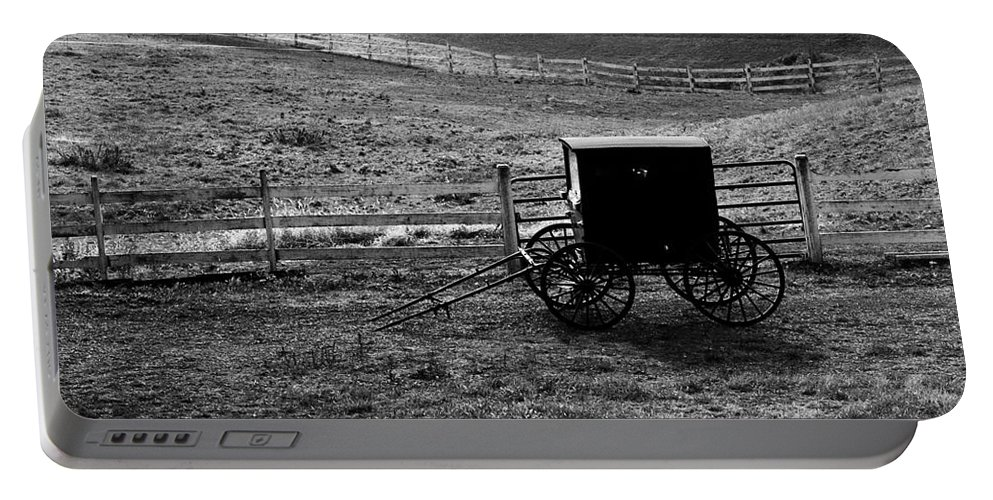 Amish Portable Battery Charger featuring the photograph Amish Buggy by Kathleen Struckle