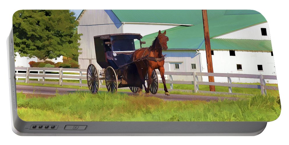 Ohio Portable Battery Charger featuring the photograph Amish Country by Jack R Perry