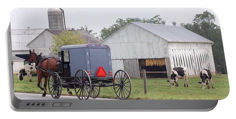Amish Portable Battery Charger featuring the photograph Amish Country by Susan Patrie