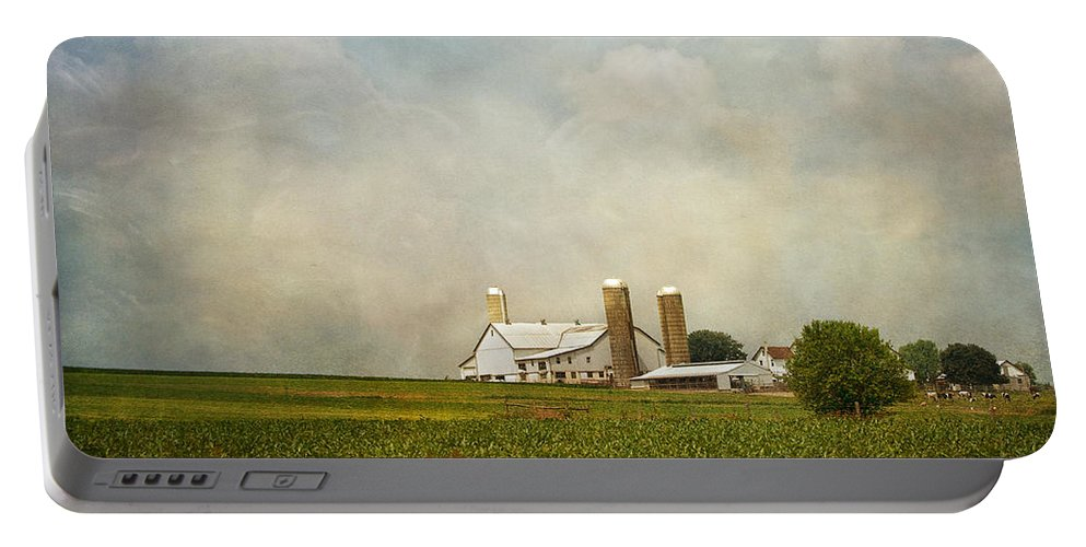 Rural Portable Battery Charger featuring the photograph Amish Farmland by Kim Hojnacki
