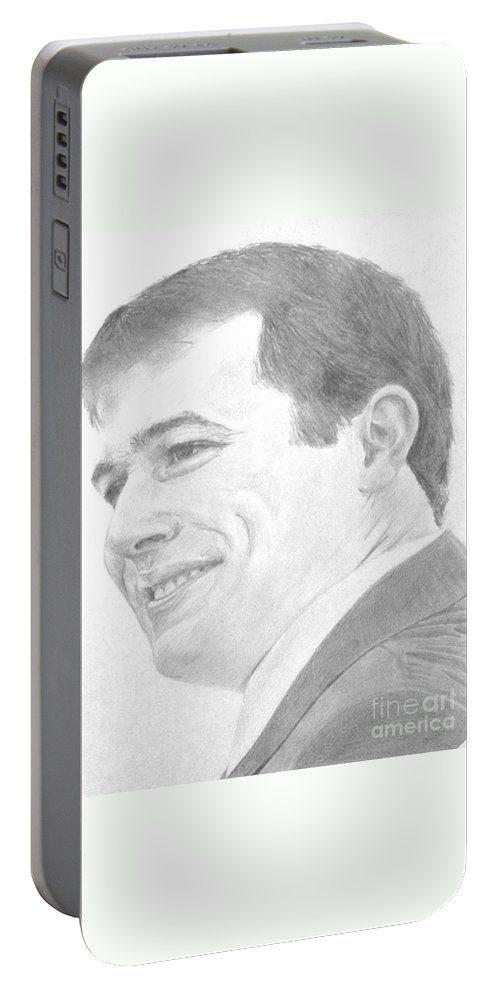 Groom Portable Battery Charger featuring the painting Amit Wedding by Tamir Barkan