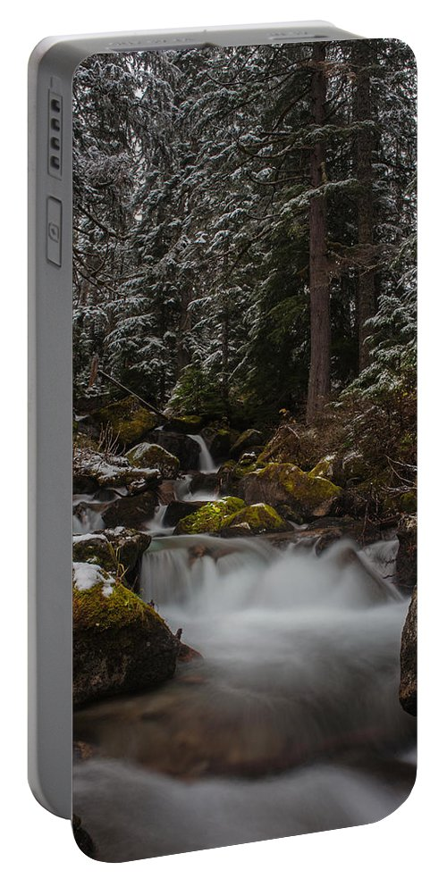 Stream Portable Battery Charger featuring the photograph Amongst The Trees And Stones by Mike Reid