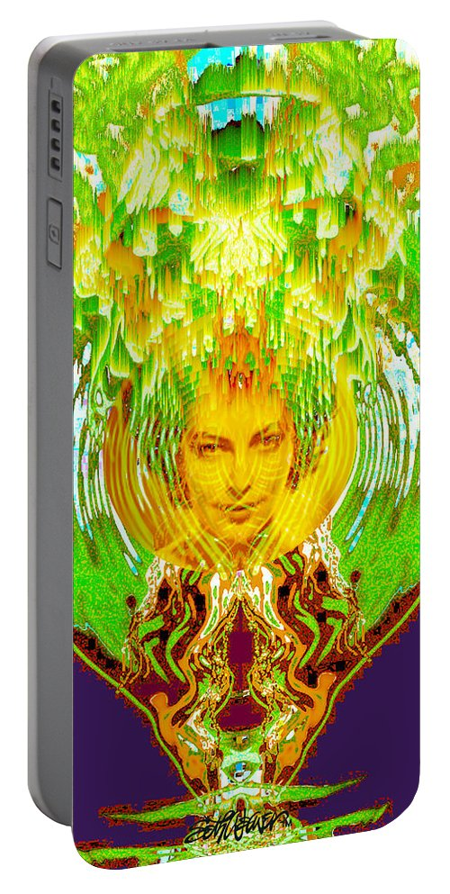 Amphora Of Fire Portable Battery Charger featuring the digital art Amphora Of Fire by Seth Weaver