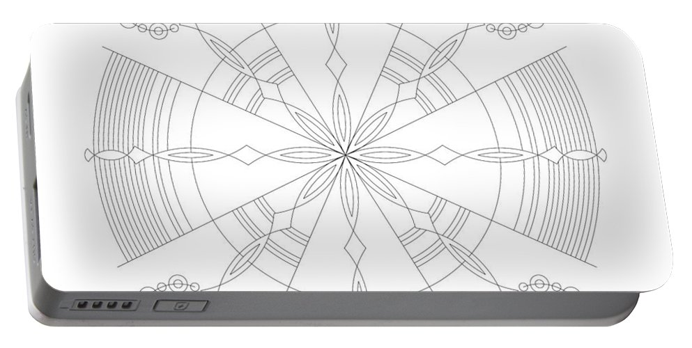 Relief Portable Battery Charger featuring the digital art Amplitude by DB Artist