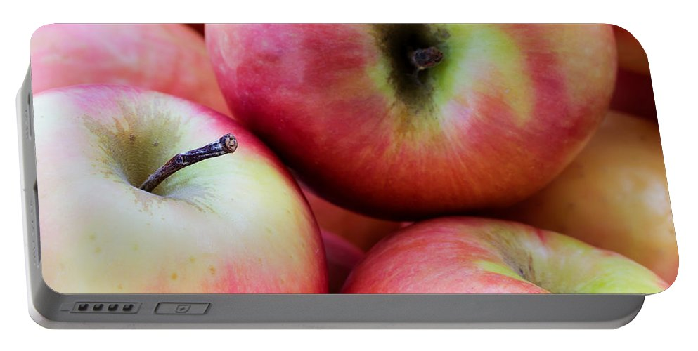 Agriculture Portable Battery Charger featuring the photograph An Apple A Day by Heidi Smith